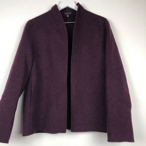Eileen Fisher Open Front Wool Jacket